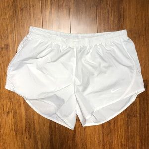 White Nike Dri-Fit Tempo Shorts